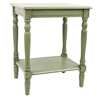 Décor Therapy Simplify End Table, Green - Green Finish Easy assembly Fits most Casual Décor - living-room-furniture, living-room, end-tables - 41YCdwQh2BL. SS400  -