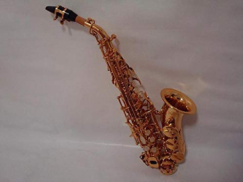 Professional Gold Soprano Saxophone Curved Saxophone by OPUS USA