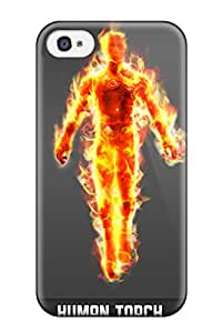 Premium Human Torch Back Cover Snap On Case For Iphone 4/4s