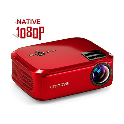 Crenova Projector Native 1080p LED Video Projector, 5500 Lux HDMI Projector with 200' Image Display Compatible with TV Stick, HDMI, VGA, USB, Laptop, Phone for Home Theater