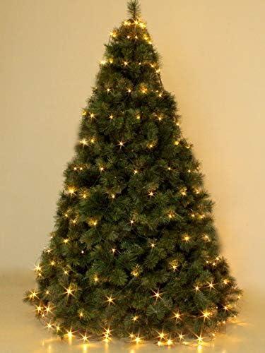 Albero Di Natale 6 Mt.Mantello 288 Luci Per Albero Di Natale A Led Bianco Caldo 3 2 Mt Con 8 Giochi Per Interno Esterno Serie Rete Verde Amazon It Illuminazione