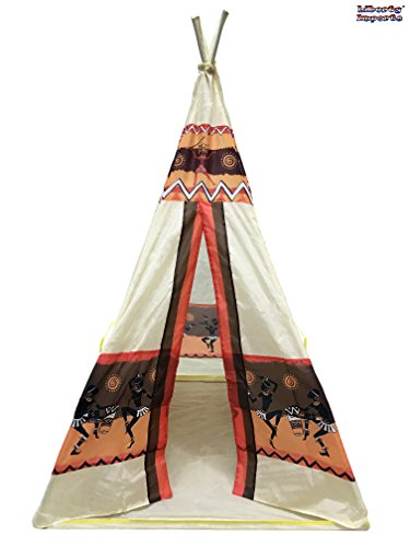 Deluxe Indian Teepee Tent Portable Indoor Outdoor Playhouse Tent for Kids