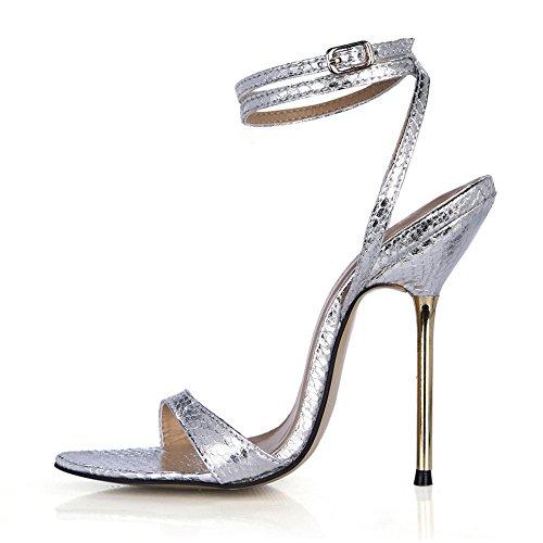 heel Snake Hierro De Silver Vida Alto Sandalias Finos Con Banquetes El Nocturna Femenino La Shoes Mostrar qtZxXSvq