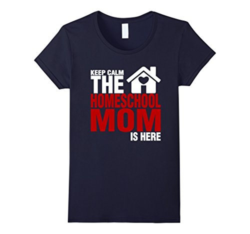 Women's Mom shirt, Keep Calm The HomeSchool Mom