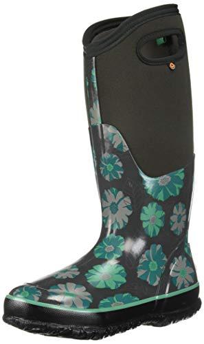 - Bogs Women's Classic Printed Rubber Snow Boot, Tall Dark Gray Multi, 7 Medium US