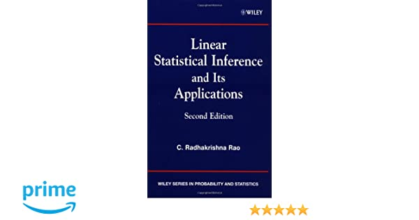 Amazon linear statistical inference and its applications amazon linear statistical inference and its applications 9780471218753 c radhakrishna rao books fandeluxe Gallery