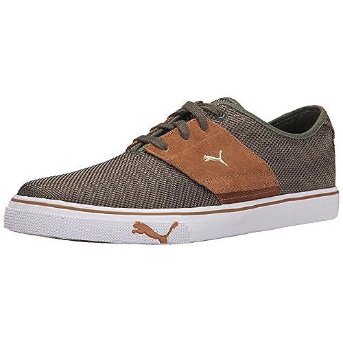 PUMA Men's EL Ace Ripstop Sneaker, Burnt Olive/Chipmunk, 4.5 D US