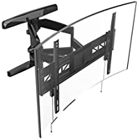 "Loctek Curved TV Wall Mount Bracket for 32-70"" inch Articulating Full Motion Tilt Swivel Flat and Curved Screen TV"