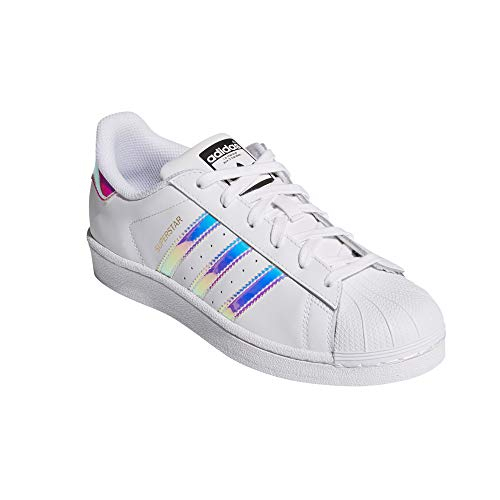 Para Autentic Piel Sneakers White iris Blancas shiny Superstar Mujer De Original Adidas n61OxwTx