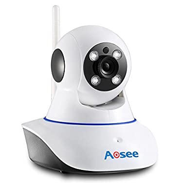 AOSEE Wireless Pan & Tilt IP Camera HD 1280x720p With Two-way Audio and Night Vision