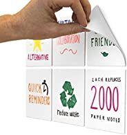 M.C. Squares Stickies 4x4 Reusable Sticky Notes | 6-Pack 2-Year Re-Stickable Mini Whiteboards with Smudge-Free