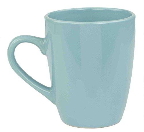 Home Basics Ceramic Dinnerware Set (13 oz Mug, Turquoise) (Coffee Turquoise Cup)