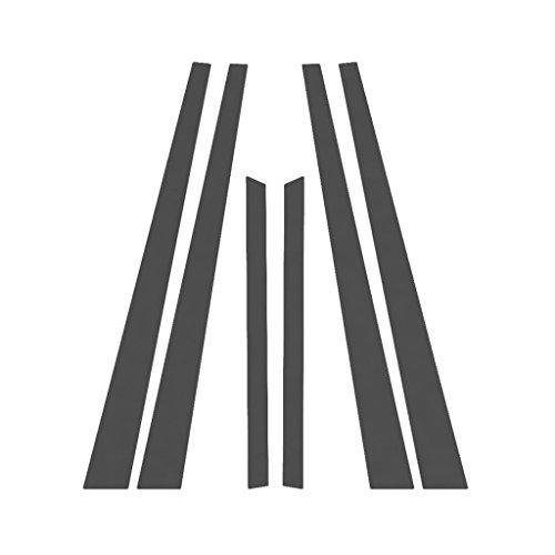 Matte Flat Black Pillar Post Trim Cover fits: 2000-2006 Nissan Sentra All Models - Ferreus Industries - PIL-128-MB