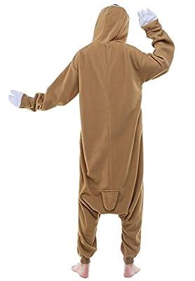 BELIFECOS Unisex Plush Pajamas One Piece Cosplay Holiday Costume Sloth