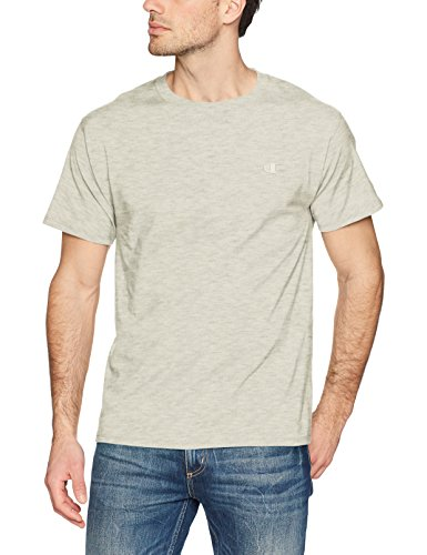 Champion Men's Classic Jersey T-Shirt, Oatmeal Heather, S by Champion