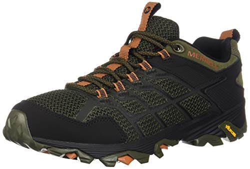 Merrell Men's Moab FST 2 Hiking Shoe, Olive/Adobe, 12.0 M - Merrell Green