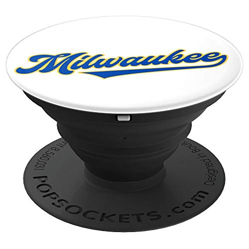 (Milwaukee, Wisconsin - Brewer Baseball Retro Gift - PopSockets Grip and Stand for Phones and Tablets)