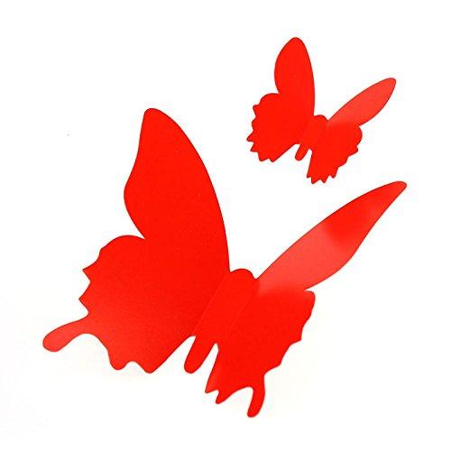 (Danhjin Butterfly Decorations 3D Wall Decals Art Sticker DIY Decorative Paper Murals for Living Room)