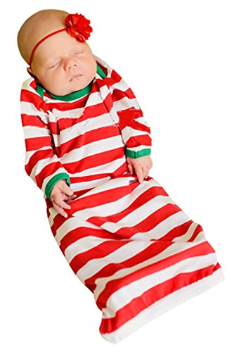 Christmas Striped Nightgowns