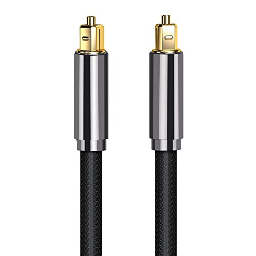 Proster Optical TOSLINK Digital Audio Cable Master Gold Fiber Optic Audio Cable Home Theater Fiber (2M OD 7.0mm)- Suitable for PS3 Sky SkyHD Plasma Blu-ray Home Cinema Systems AV Amps (Optical Sony Cable)