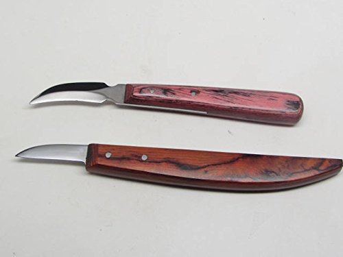 2pc Wood Carving Knife Set Luthier Whittling Decoy Caricature Chip