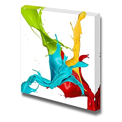 Canvas Prints Wall Art - Colored Splashes in Abstract Shape | Modern Home Deoration/Wall Art Giclee Printing Wrapped Canvas Art Ready to Hang - 12