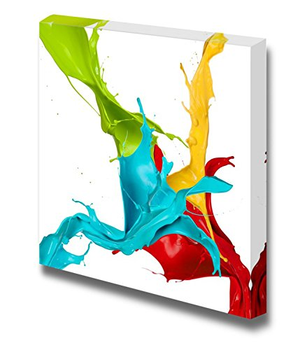 Colored Splashes in Abstract Shape Home Deoration Wall Decor ing
