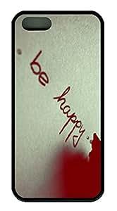 Be Happy DIY Hard Shell Black Best Designed iphone 5/5s Case