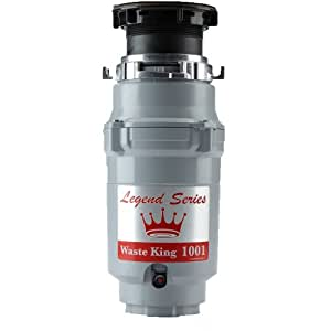 Waste King L-1001 Legend Series 1/2 HP Continuous Feed Operation Garbage Disposer (With Power Cord)
