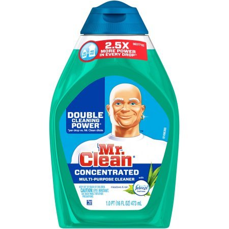 Mr. Clean Meadows & Rain with Febreze Freshness Concentrated Multi-Purpose Cleaner, 16 fl oz