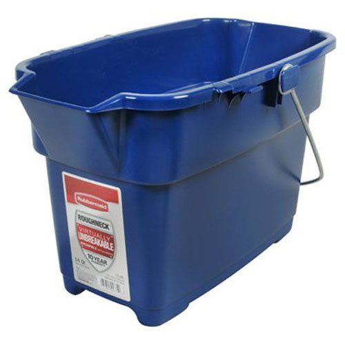 Rubbermaid Roughneck Heavy-Duty Utility Bucket, 15-Quart, Bisque Rubel Bike Maps FG296900BISQU