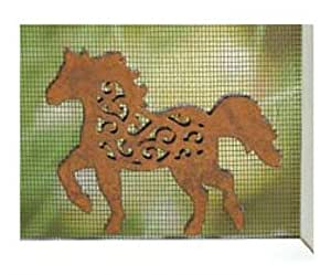 Patio Screen Savers Western Style- Horse Running
