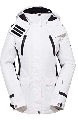 HSW Women Jacket Winter Girl Coat Outdoor Sport Dress Ski Jacket White