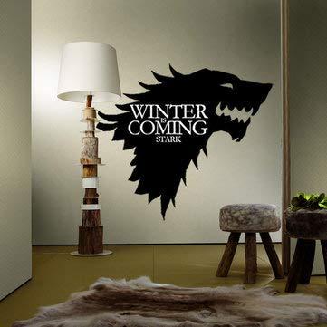 Home Decor Sticker Game Fans Sticker T 5 Stark Family Emblem Ice