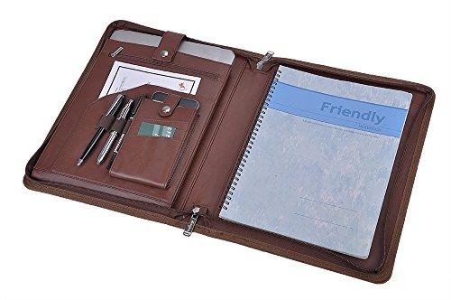 Personalization Leather Organizer Laptop Folio Case with ...
