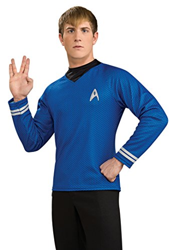 Rubie's Costume Star Trek Into Darkness Deluxe Spock Shirt With Emblem, Blue, X-Large