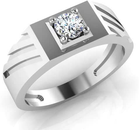 2 Ct Coupe Ronde D//VVS1 Diamant Solitaire bague de fiançailles 10k Or Blanc Finition