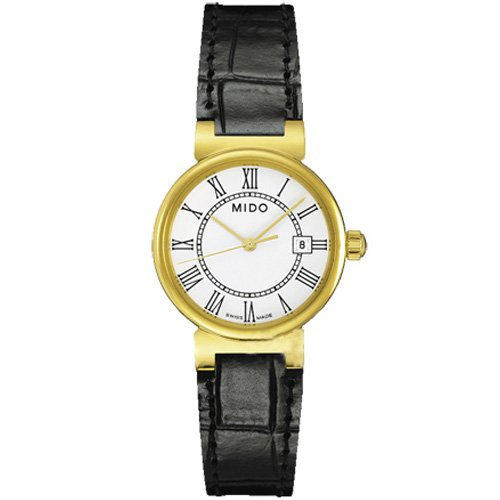 Mido Dorada White Dial Ladies Leather Watch M2130.3.26.4
