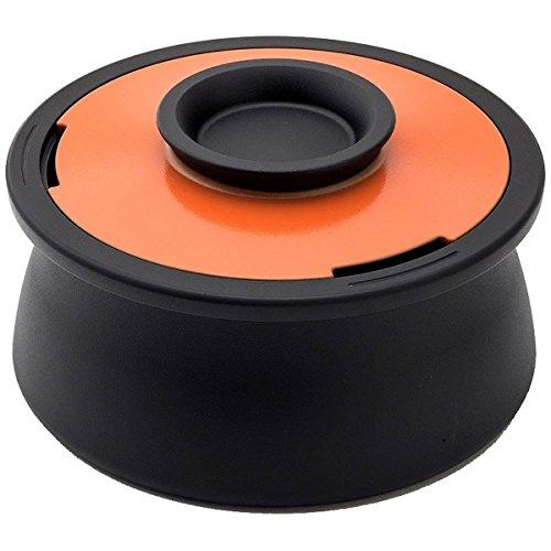 アナオリカーボンポット[ボリューム](ANAORI CRBON POT VOL.) [日本製] 両手鍋 スパニッシュオレンジ 直径22cm 容量2.1L [IH対応]   B0762PBJNQ