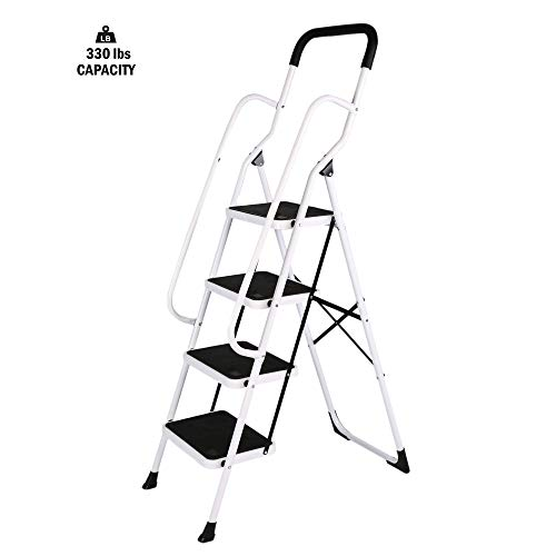 Stable Step Ladder 4 Step with Grips Holds 330 - Grip 4 Step