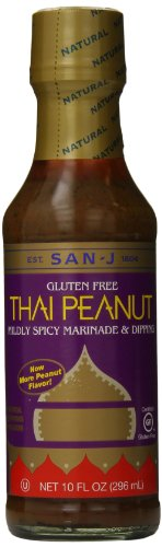 San J Peanut Sauce, Thai, 10 Ounce