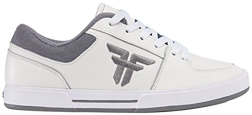 Fallen Men's Patriot Skateboard Shoe, White/Cement Grey, 7 M US