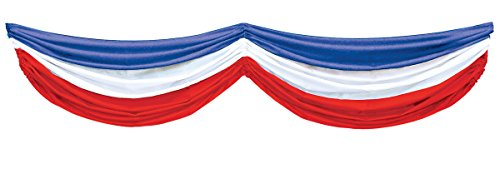 Patriotic Fabric Bunting (red, white, blue) Party Accessory  (1 count) (1/Pkg)]()