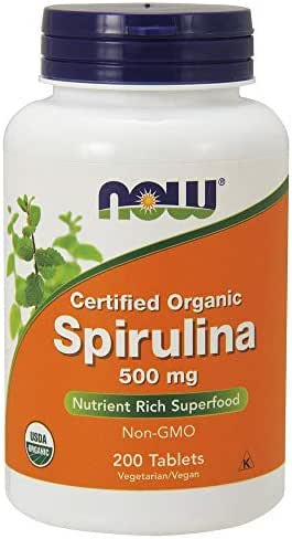Now Foods Organic Spirulina Tablets, 200
