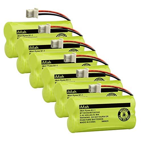 iMah BT183342 BT283342 BT166342 BT266342 BT162342 BT262342 Cordless Phone Battery Compatible with AT&T EL52100 EL50003 CL80100 CL80111 CRL80112 EL50003 VTech CS6709 CS6609 CS6509 CS6409, 6-Pack (Cordless Phone Bt283342 Battery)