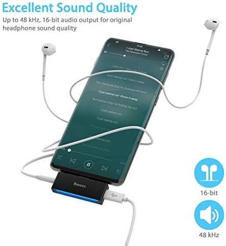 Pixel 3//2 Basevs 2-in-1 Type C to 3.5mm Pixel 2 Adapter for Headphone Compatible with iPad Pro 2020 USB C Headphone Charger Adapter Samsung Galaxy S20//note 10//Note8//S8//S9Plus and More USB C Devices