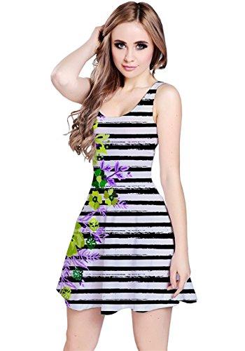 CowCow - Vestido - para mujer Green Hawaii Stripe
