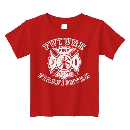 Threadrock Little Boys' Future Firefighter Toddler T-Shirt 2T Red