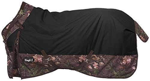 Tough 1 Timber 1200D Waterproof Poly Snuggit Turnout Blanket, Black, 72'' by Tough 1