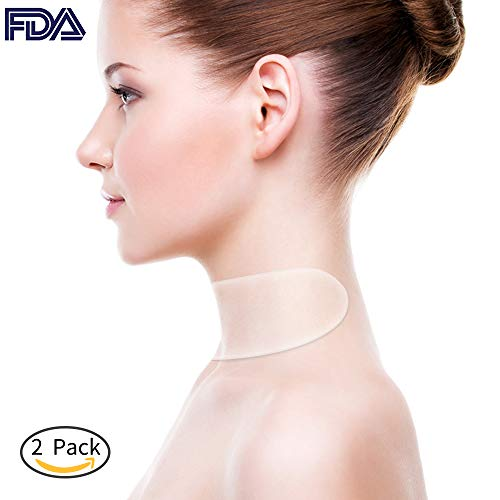 CENOVE Silicone Neck Pad 2 Pack Neck Tape Wrinkle Pads for Neck Wrinkle Treatment